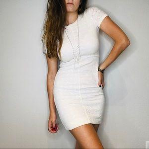 Oliveacious white lace mini dress